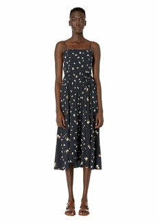 Vince Mixed Ditzy Hibiscus Dress