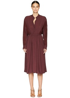Vince Mixed Media Long Sleeve Dress