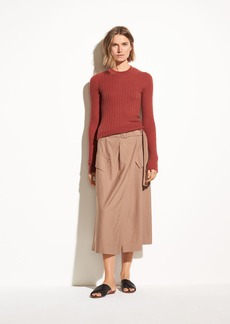 Vince Mixed Rib Cashmere Long Sleeve