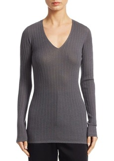Vince Mixed Rib-knit Cashmere Sweater