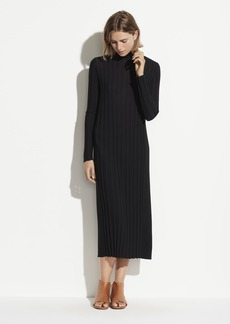 Vince Mixed Rib Turtleneck Dress