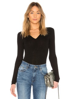 Vince Mixed Riv V Neck Top
