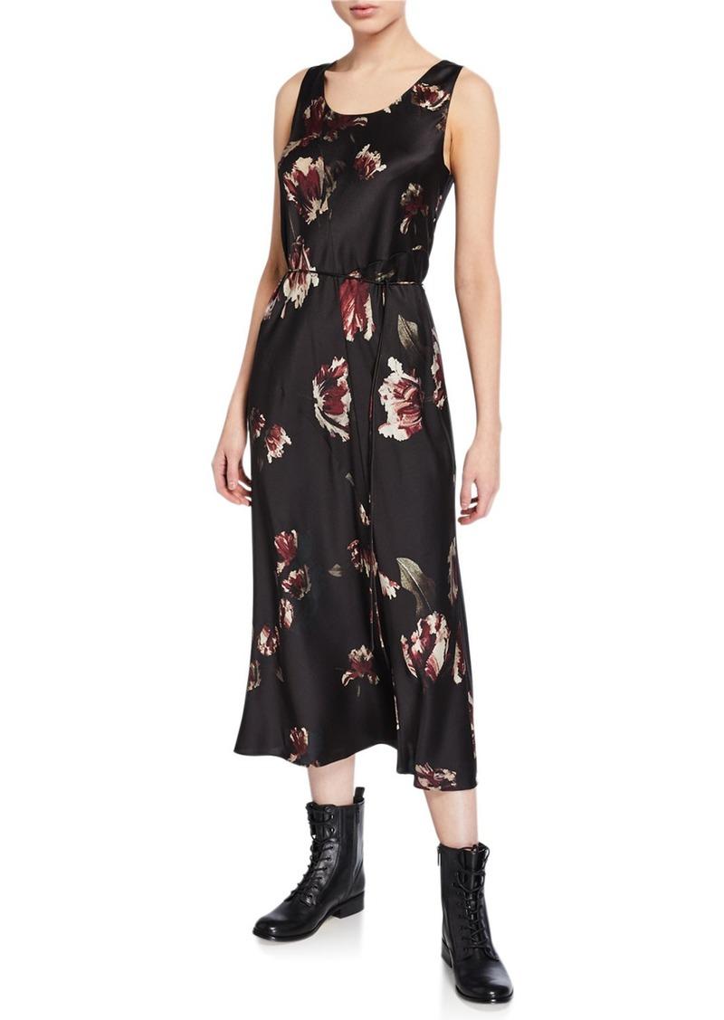 Vince Mixed Tulip-Print Slip Dress