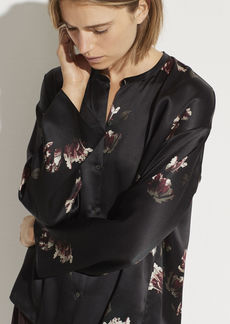 Vince Mixed Tulip Satin Blouse