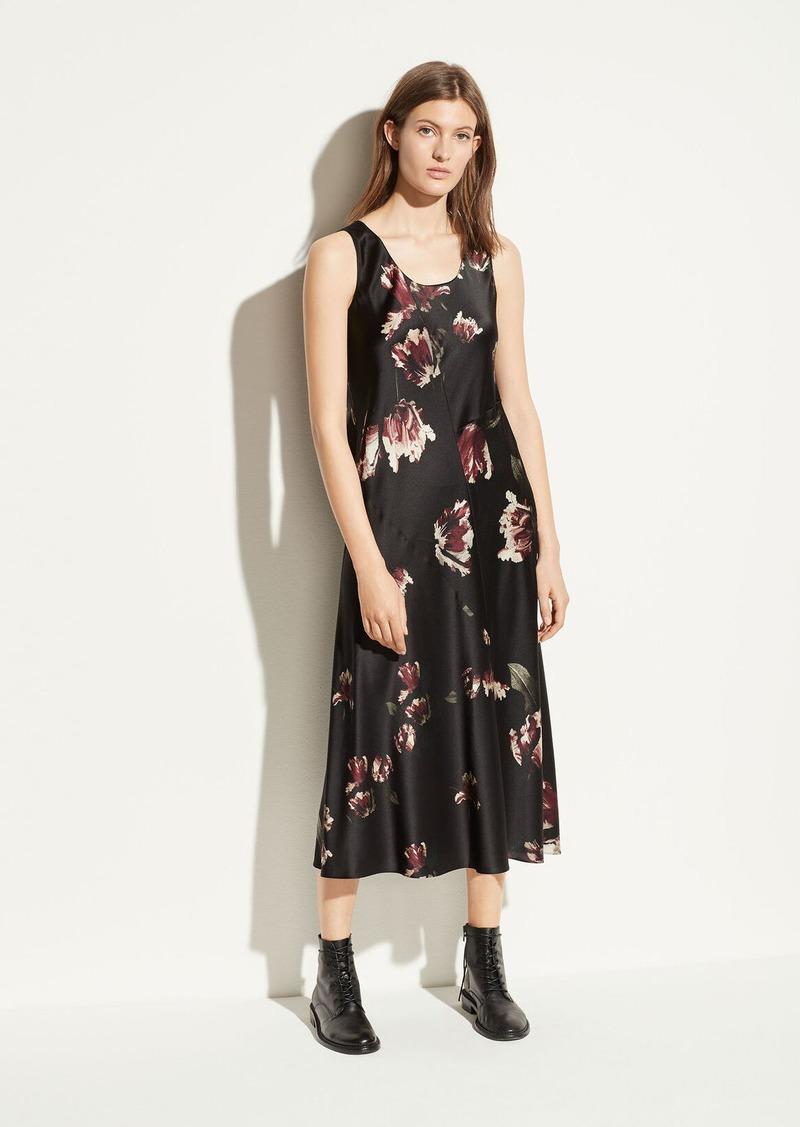 Vince Mixed Tulip Satin Slip Dress