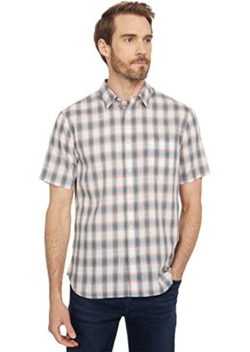 Vince Multi Shadow Plaid Short Sleeve