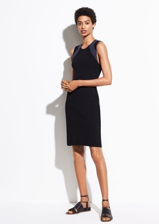 Vince Multi Stitch Wool Dress