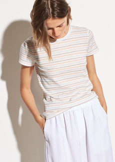 Vince Multi Stripe Essential Cotton Crew