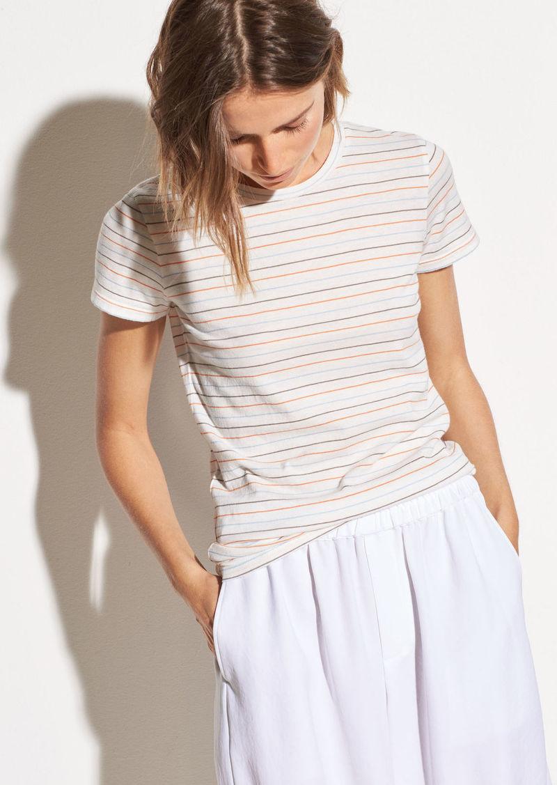 Vince Multi Stripe Essential Cotton Crew