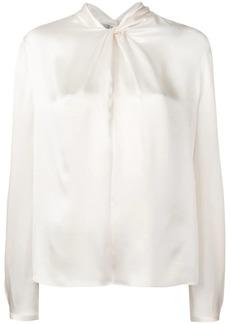 Vince neck knot blouse