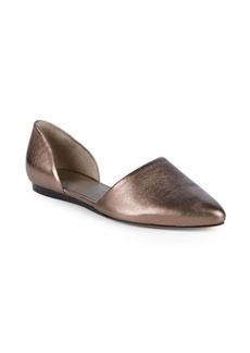 Vince Nina Metallic Leather d'Orsay Flats