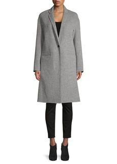 Vince Notch-Lapel Wool-Blend Coat