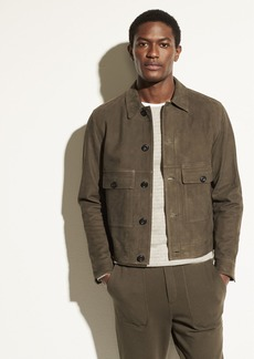 Vince Nubuck Leather Jacket