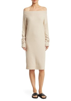 Vince Off-the-Shoulder Cashmere Dress