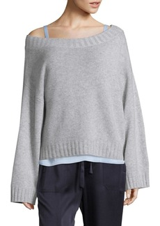 Vince Off-The-Shoulder Cashmere Sweater