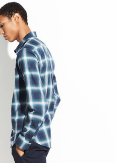 Vince Ombre Shadow Plaid Long Sleeve