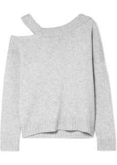 Vince One-shoulder Cutout Wool And Cashmere-blend Sweater