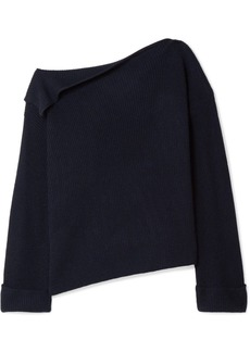 Vince One-shoulder Ribbed Cashmere Sweater