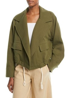 Vince Open-Front Cropped Utility Jacket