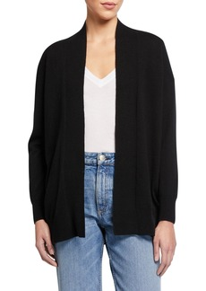 Vince Open-Front Drop-Shoulder Wool/Cashmere Cardigan