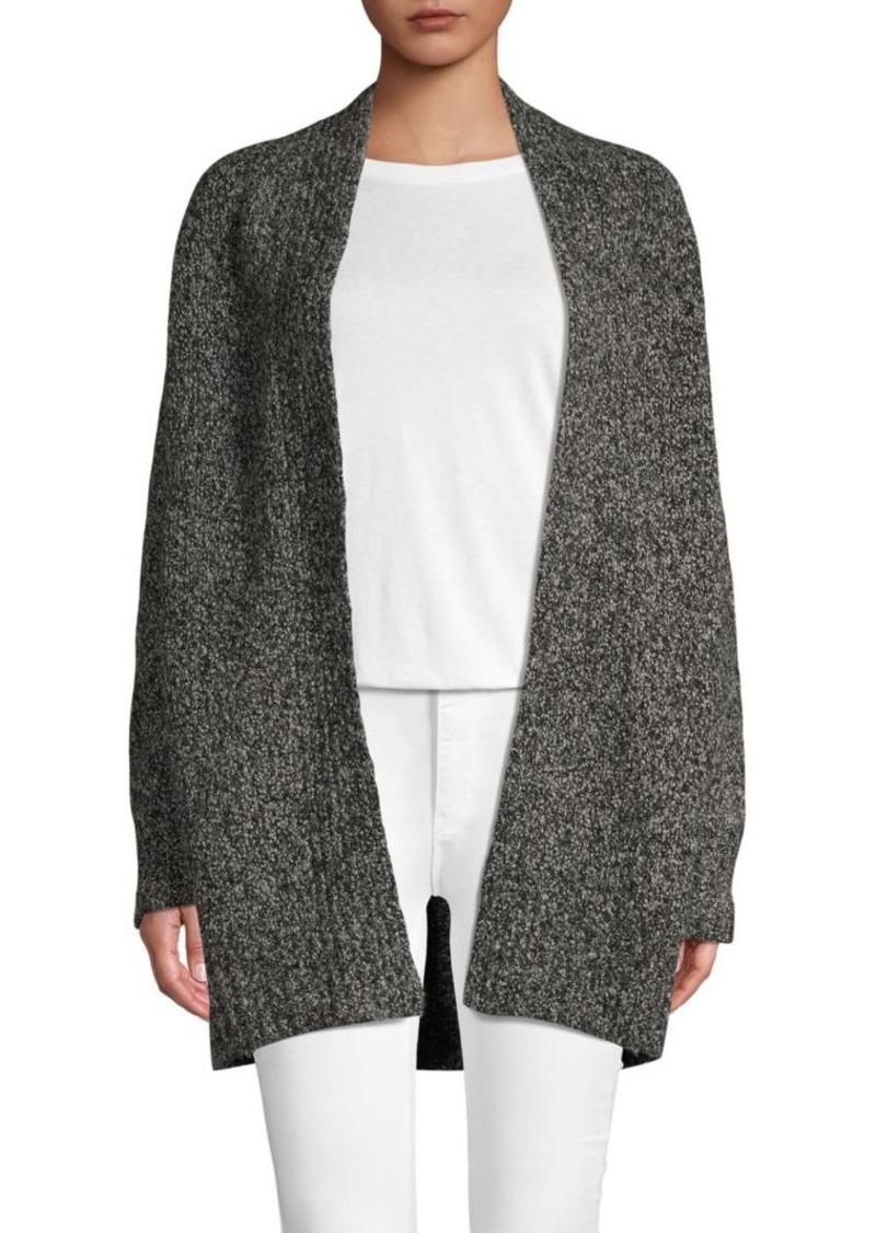 Vince Open-Front Wool Blend Cardigan