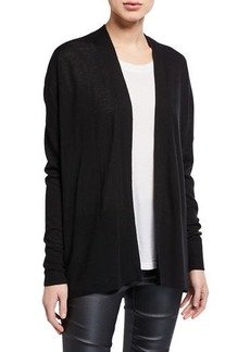 Vince Open-Front Wool/Cashmere-Blend Cardigan