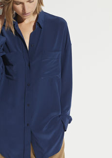 Vince Oversized Button Front Blouse