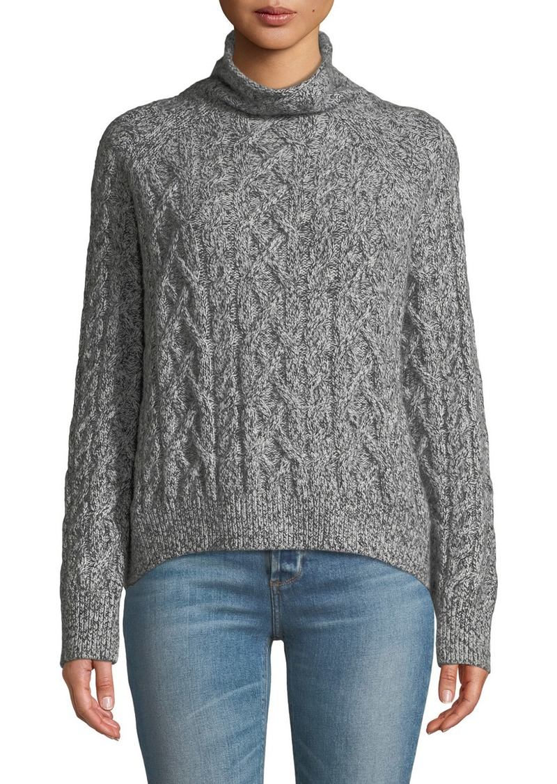 82592e468f49 Vince Oversized Cable-Knit Turtleneck Sweater