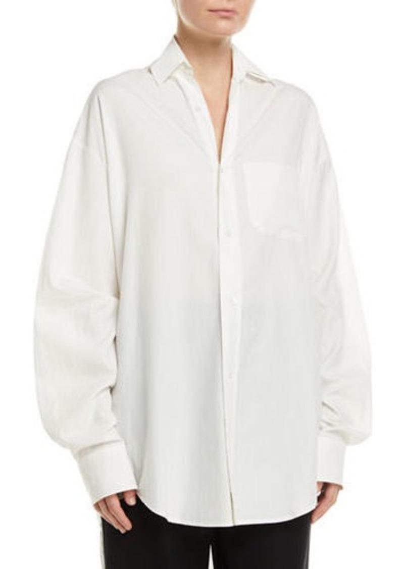 Vince Oversized Classic Button-Down Shirt