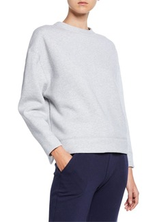 Vince Oversized Cotton Fleece Pullover