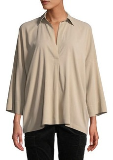 Vince Oversized Long-Sleeve Blouse