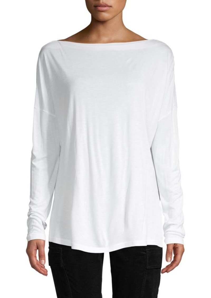 Vince Oversized Long Sleeve T-Shirt