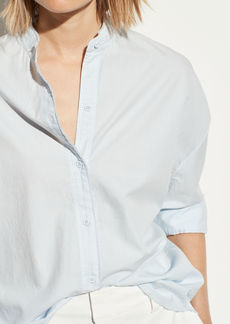Vince Oversized Raw Edge Button Down