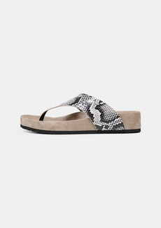 Vince Padma Snake-Effect Leather Sandals