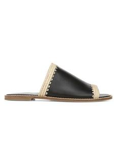 Vince Padmore Raffia Trim Slide Sandals