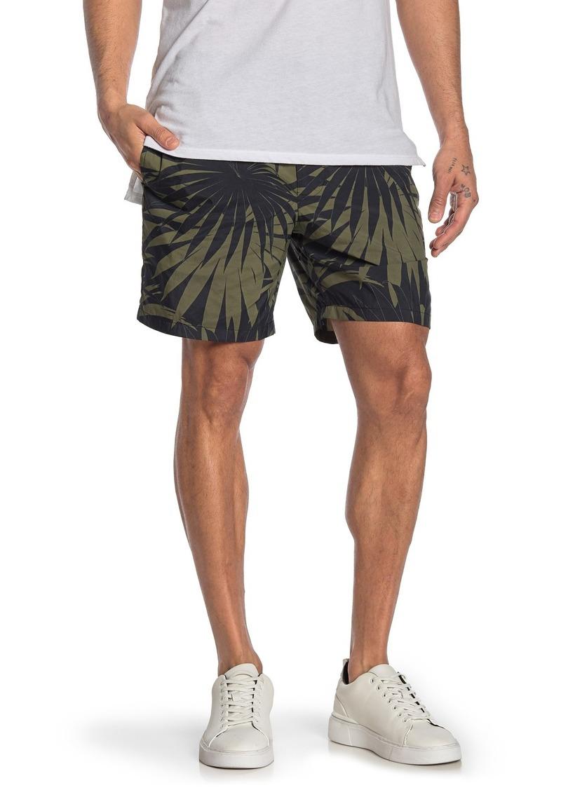 Vince Palm Leaf Print Track Shorts