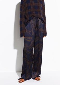 Vince Palm Leaf Satin Pajama Pant