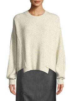 Vince Paneled Crewneck Pullover Sweater