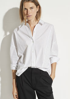 Vince Paneled Double Pinstripe Shirt