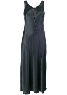 Vince panelled satin midi dress