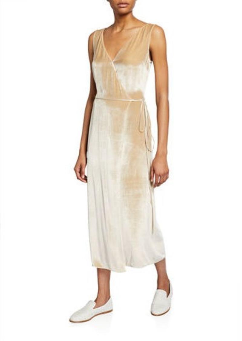 Vince Panne Velvet Wrap Dress