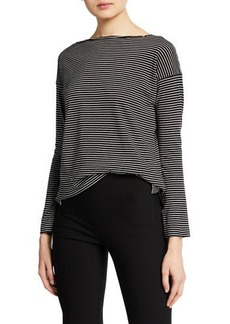 Vince Pencil-Stripe Long-Sleeve T-Shirt