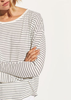 Vince Pencil Stripe Relaxed Long Sleeve