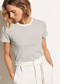Vince Pencil Stripe Short Sleeve Crew