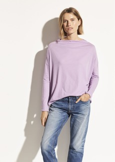 Vince Pima Cotton Mock Neck