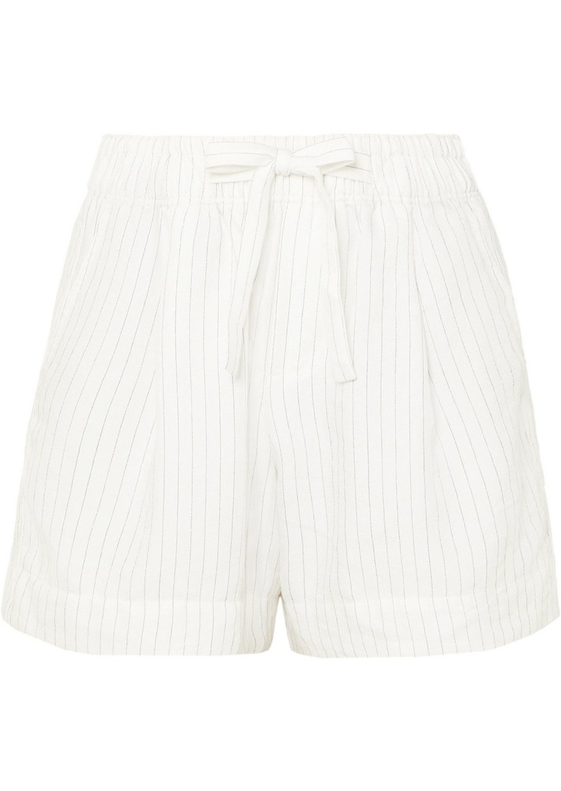 Vince Pinstriped Gauze Shorts