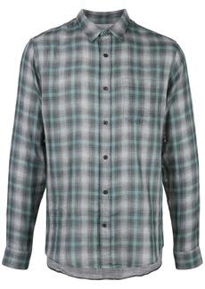 Vince plaid long-sleeve shirt