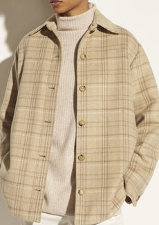 Vince Plaid Padded Shirt Jacket