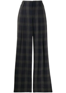 Vince plaid print flared trousers