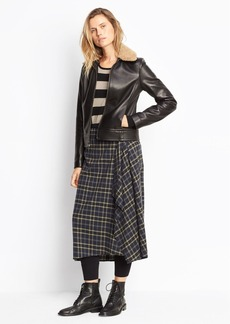 Plaid Tie Front Skirt